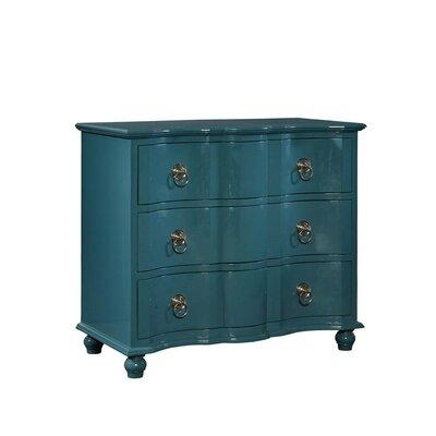 Lacquer 3 Drawer Dresser Color: Teal