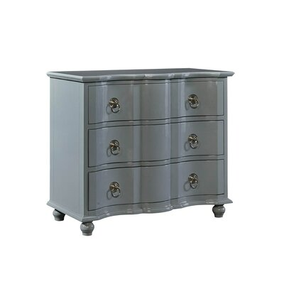 Lacquer 3 Drawer Dresser Color: Gray