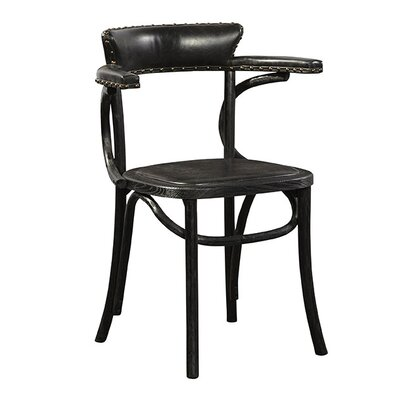 Saddle Genuine Leather Upholstered Dining Chair