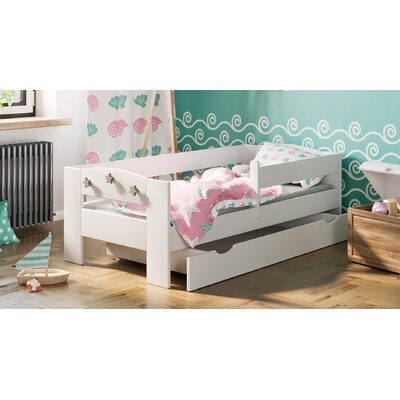 Kinderbett Elena mit Matratze und Schublade 80 x 160 cm | Kinderzimmer > Textilien für Kinder > Kinderbettwäsche | White | Holz | Möbel Concept