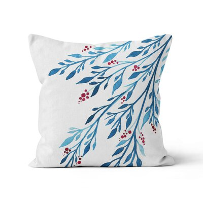 Berries Watercolor Throw Pillow Size: 16 H x 16 W x 3 D
