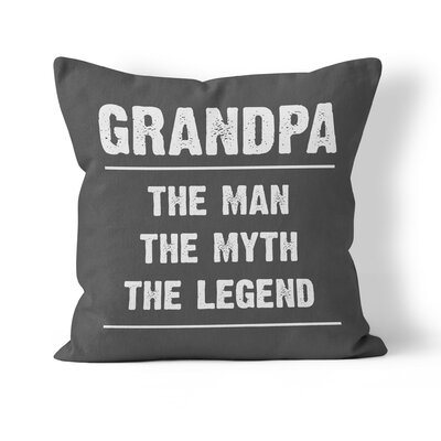 Grandpa Throw Pillow Size: 16 H x 16 W x 3 D