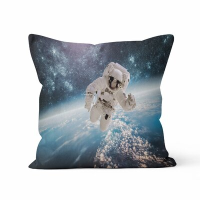 Astronaut Space Throw Pillow Size: 20 H x 20 W x 3 D