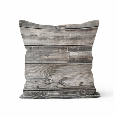 Wood Throw Pillow Size: 16 H x 16 W x 3 D
