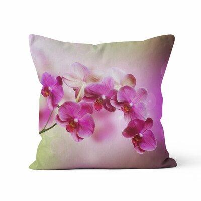 Orchids Throw Pillow Size: 18 H x 18 W x 3 D