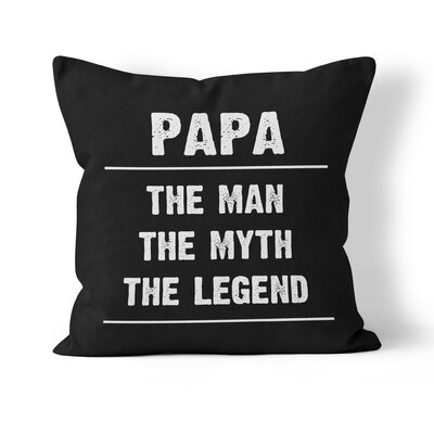Papa Throw Pillow Size: 16 H x 16 W x 3 D