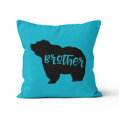 Brother Bear Throw Pillow Size: 20 H x 20 W x 3 D