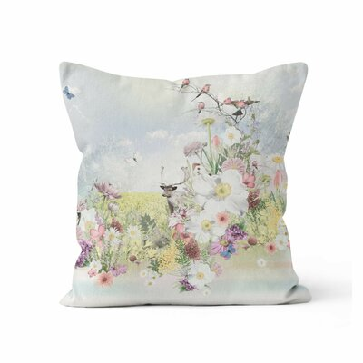 Deer Wilderness Throw Pillow Size: 16 H x 16 W x 3 D