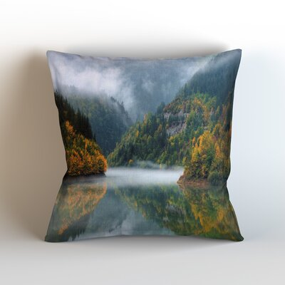 Mountains Throw Pillow Size: 18 H x 18 W x 3 D