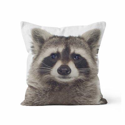 Raccoon Throw Pillow Size: 16 H x 16 W x 3 D
