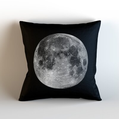 Moon Throw Pillow Size: 18 H x 18 W x 3 D