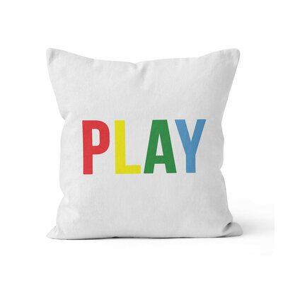 Play Throw Pillow Size: 16 H x 16 W x 3 D