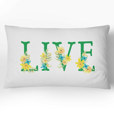Live Watercolor Lumbar Pillow