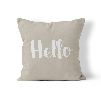 Hello Throw Pillow Size: 18 H x 18 W x 3 D