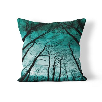 Teal Forest Throw Pillow Size: 18 H x 18 W x 3 D