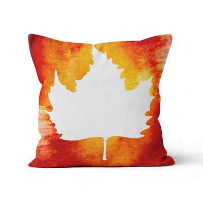 Maple Leaf Throw Pillow Size: 16 H x 16 W x 3 D
