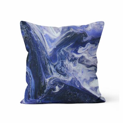 Marble Throw Pillow Size: 18 H x 18 W x 3 D