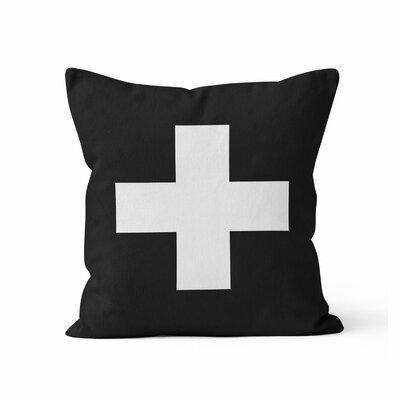 Swiss Cross Throw Pillow Size: 16 H x 16 W x 3 D