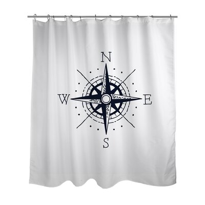 Nautical Compass Shower Curtain