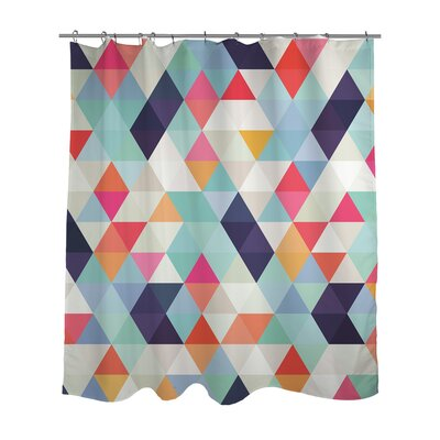 Geometric Triangles Shower Curtain