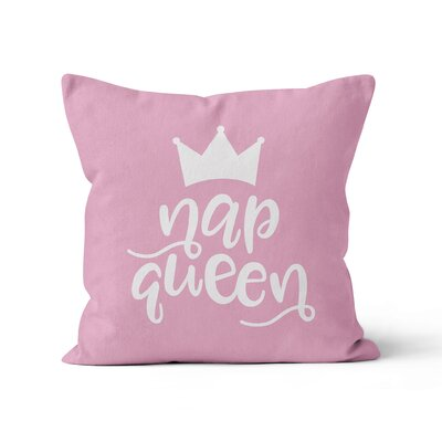 Nap Queen Blush Pink Throw Pillow Size: 18 H x 18 W x 3 D