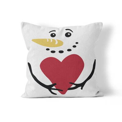 Snowman Throw Pillow Size: 18 H x 18 W x 3 D