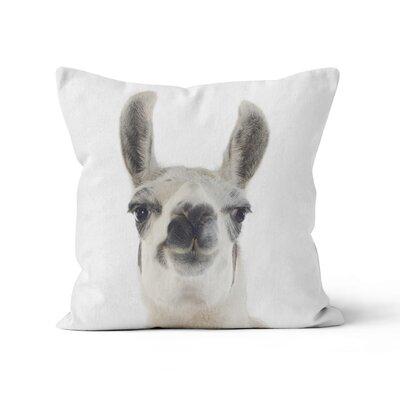 Llama Throw Pillow Size: 18 H x 18 W x 3 D