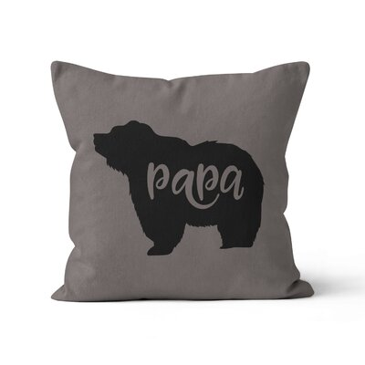 Papa Bear Throw Pillow Size: 18 H x 18 W x 3 D
