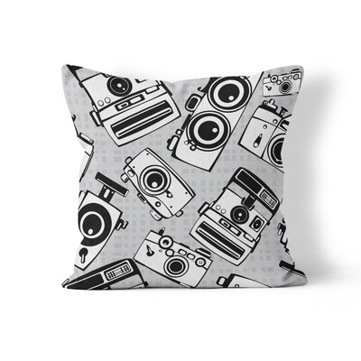 Cameras Throw Pillow Size: 18 H x 18 W x 3 D