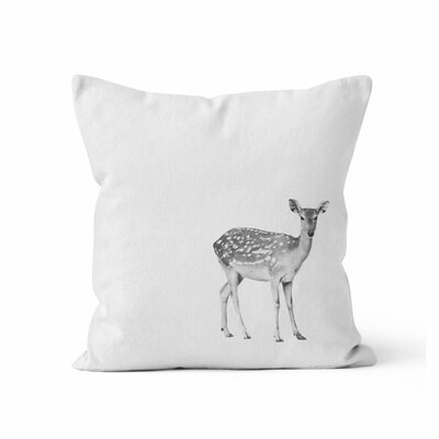 Fawn Throw Pillow Size: 18 H x 18 W x 3 D