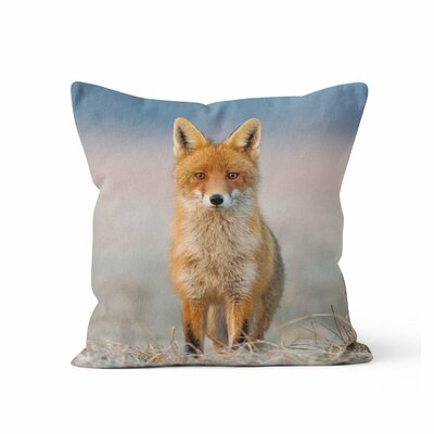 Fox Friendly Approach Throw Pillow Size: 16 H x 16 W x 3 D
