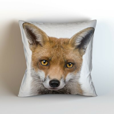Fox Friendly Eyes Throw Pillow Size: 20 H x 20 W x 3 D