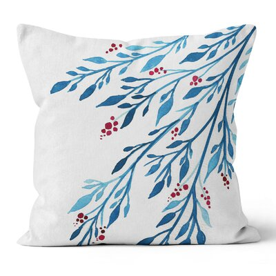Berries Watercolor Throw Pillow Size: 18 H x 18 W x 3 D