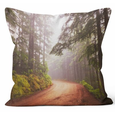 Autumn Forest Throw Pillow Size: 18 H x 18 W x 3 D