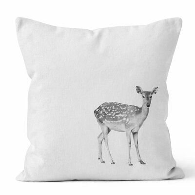 Fawn Throw Pillow Size: 16 H x 16 W x 3 D