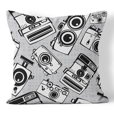 Cameras Throw Pillow Size: 16 H x 16 W x 3 D