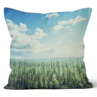 Forest Landscape Throw Pillow Size: 16 H x 16 W x 3 D