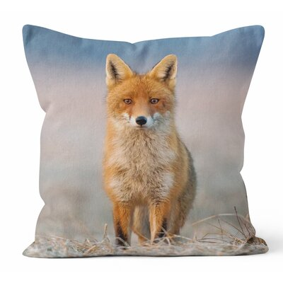Fox Friendly Approach Throw Pillow Size: 18 H x 18 W x 3 D