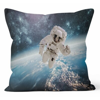 Astronaut Space Throw Pillow Size: 16 H x 16 W x 3 D