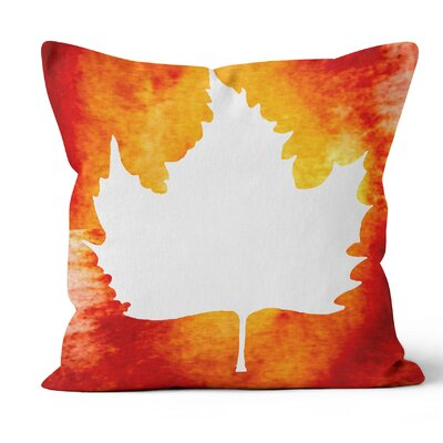 Maple Leaf Throw Pillow Size: 18 H x 18 W x 3 D