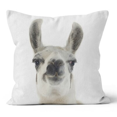 Llama Throw Pillow Size: 18 H x 18 W x 3 D