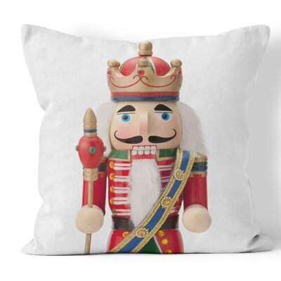 Nutcracker Throw Pillow Size: 16 H x 16 W x 3 D
