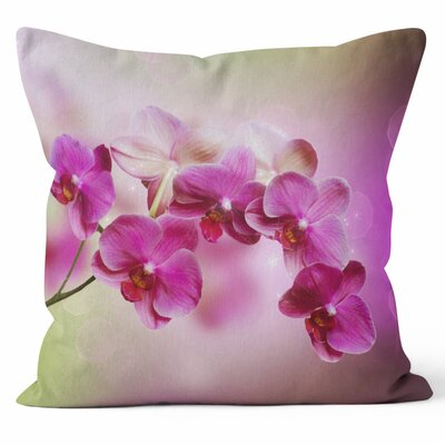 Orchids Throw Pillow Size: 18 H x 18 W x 3 D