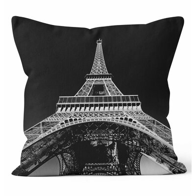 Paris Throw Pillow Size: 18 H x 18 W x 3 D