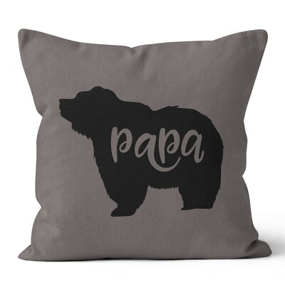 Papa Bear Throw Pillow Size: 18 H x 18 W x 3 D