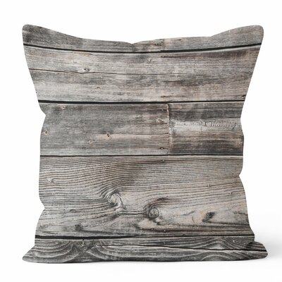 Wood Throw Pillow Size: 20 H x 20 W x 3 D