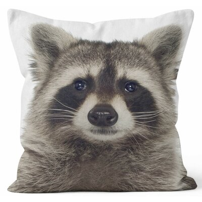 Raccoon Throw Pillow Size: 16 H x 16 W x 3 D
