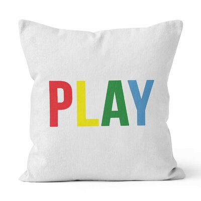Play Throw Pillow Size: 20 H x 20 W x 3 D