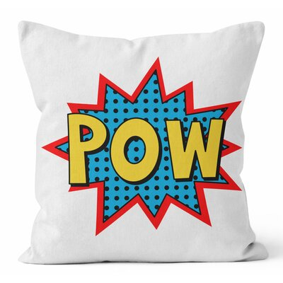 Pow Comic Book Throw Pllow Size: 16 H x 16 W x 3 D