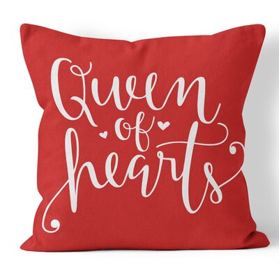 Queen of Hearts Throw Pillow Size: 16 H x 16 W x 3 D